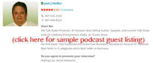 Perfect Podcast Guest Listing